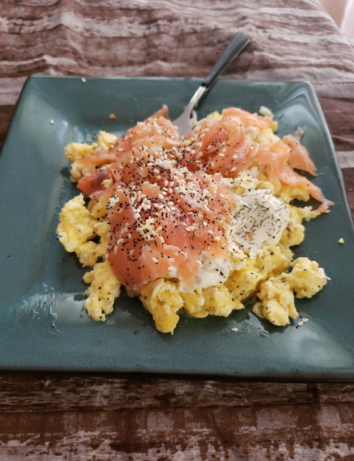 Dill Cream Cheese Scramble with Smoked Salmon