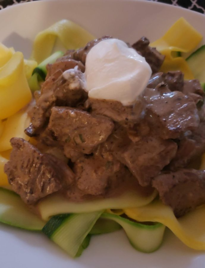 Beef Stroganoff and Zoodles