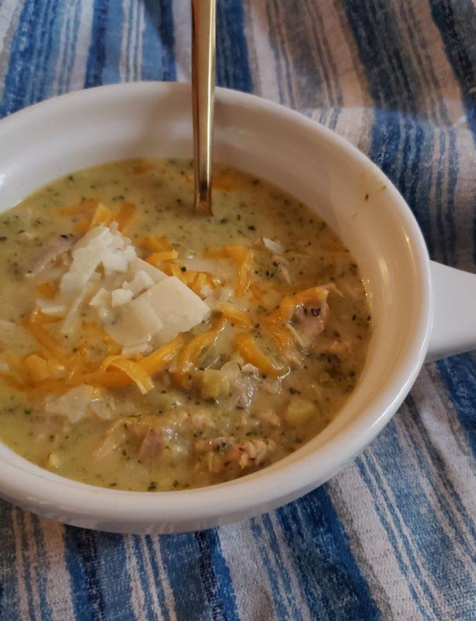 Broccoli Cheddar Chicken Soup