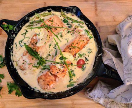 Creamy Salmon and Veggies