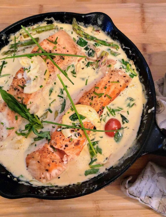 Creamy Salmon and Veggies