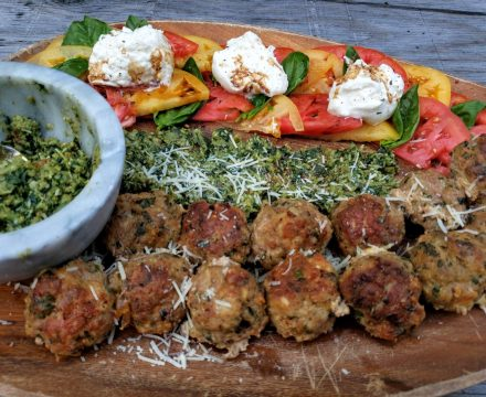 Low Carb Pesto Meatballs