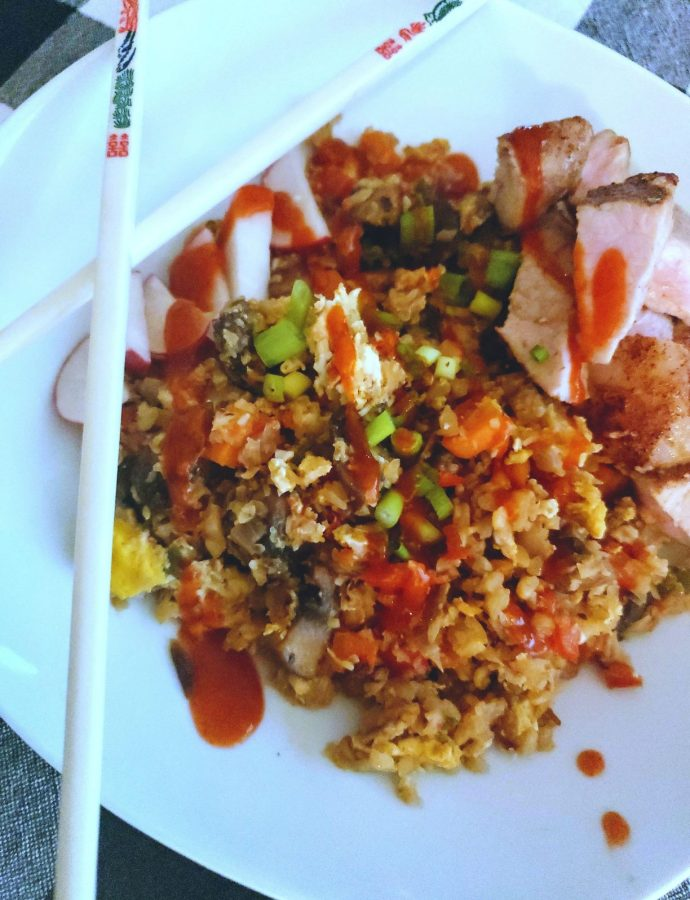Cauliflower Fried Rice with 5 Spice Pork Loin